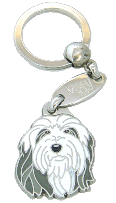 BEARDED COLLIE - pet ID tag, dog ID tags, pet tags, personalized pet tags MjavHov - engraved pet tags online